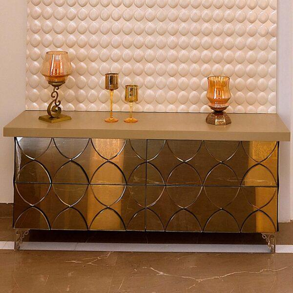 ELLIPTICAL PATTERNED TABLE